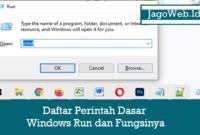 Daftar Perintah Dasar Windows Run dan Fungsinya
